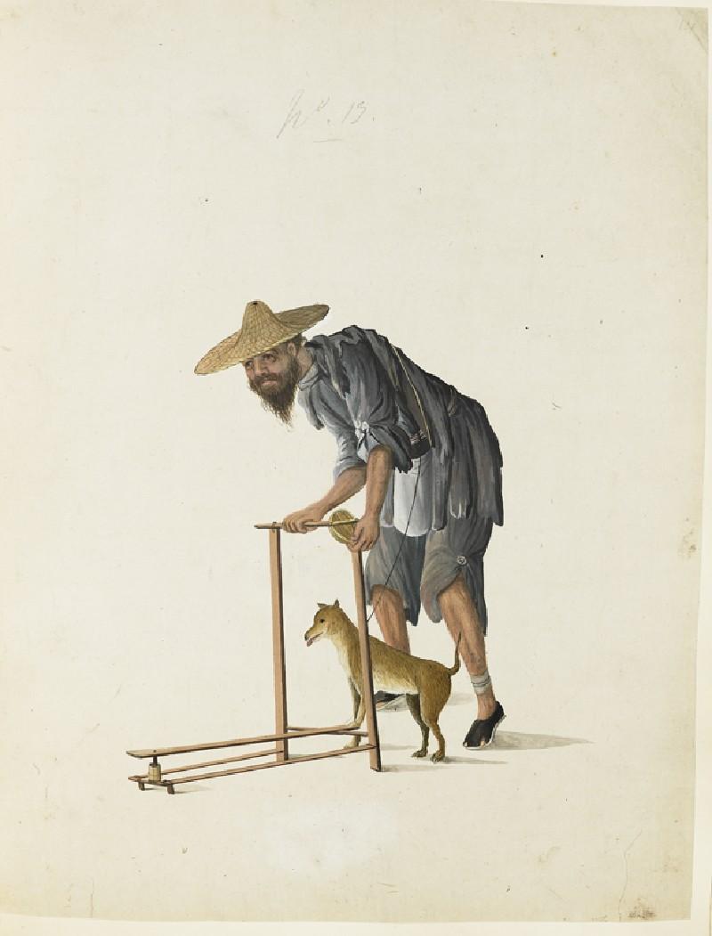 A Beggar with a Dog