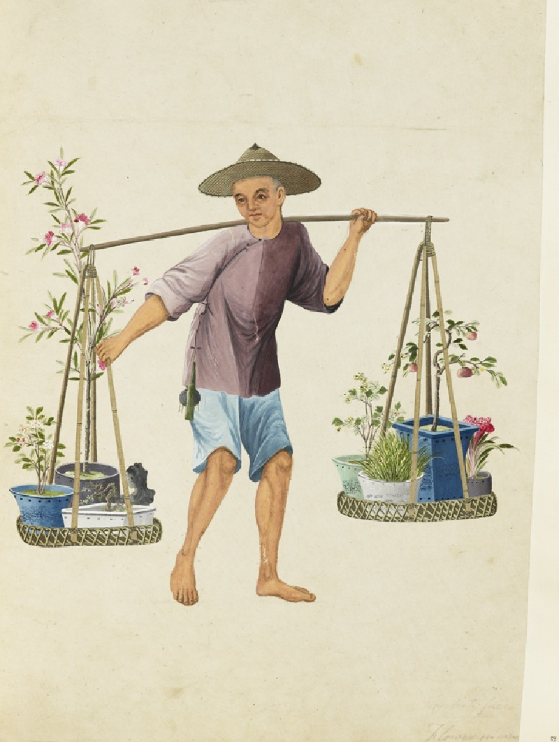 A Porter with Fruit-Trees and Flowers
