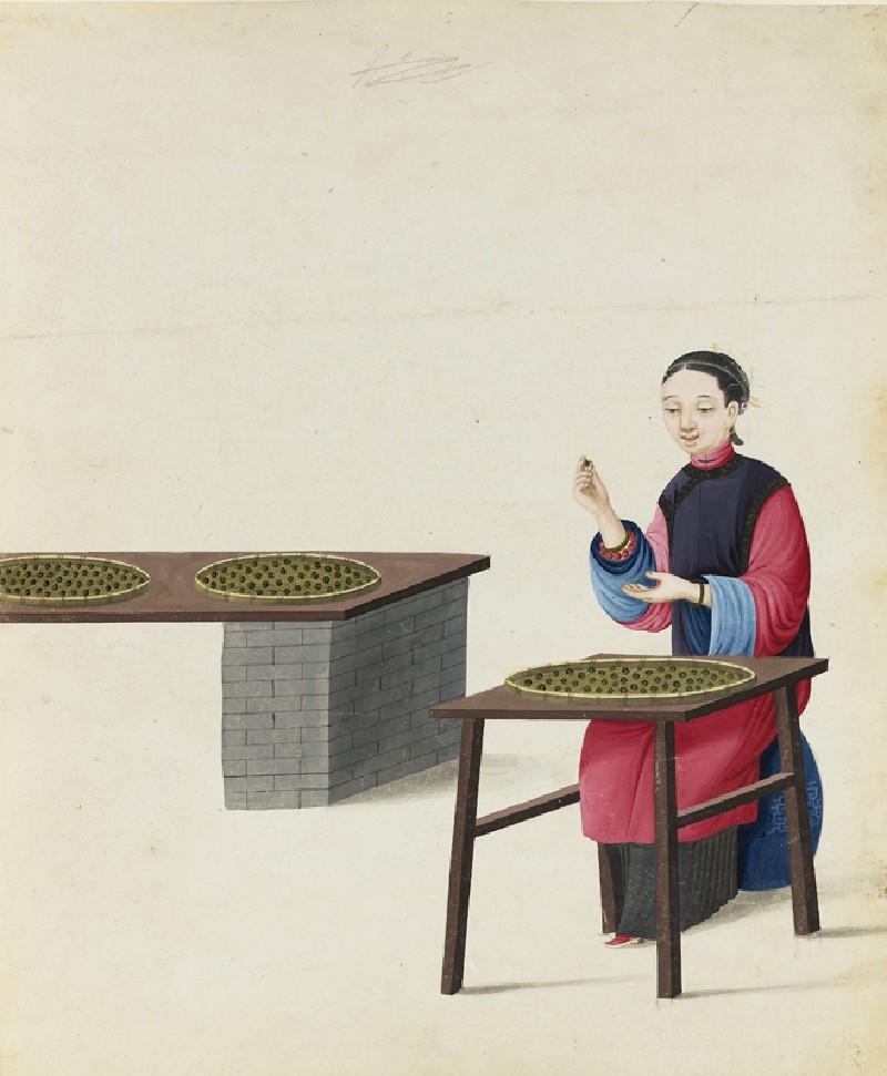 A Woman Preparing Tea