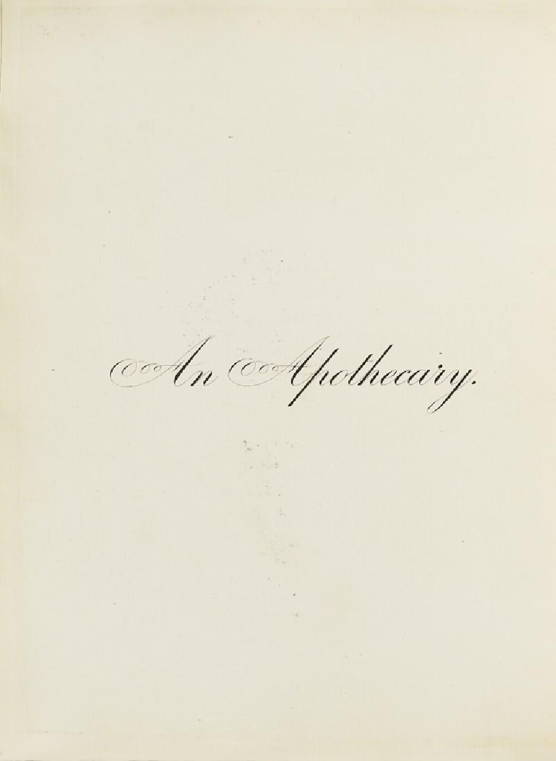 An Apothecary