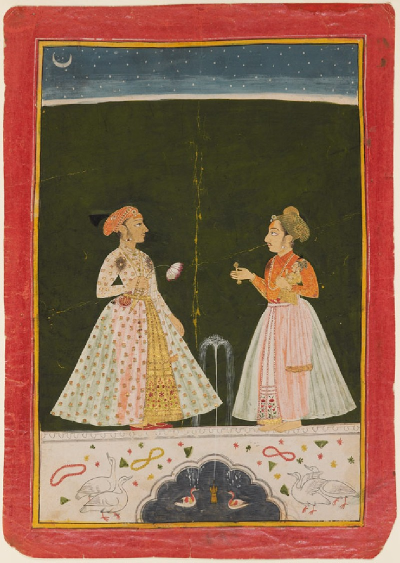 Prince Amar Singh with his infant son