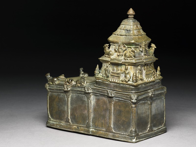 Model of a Shiva temple (EA2005.10, oblique           )