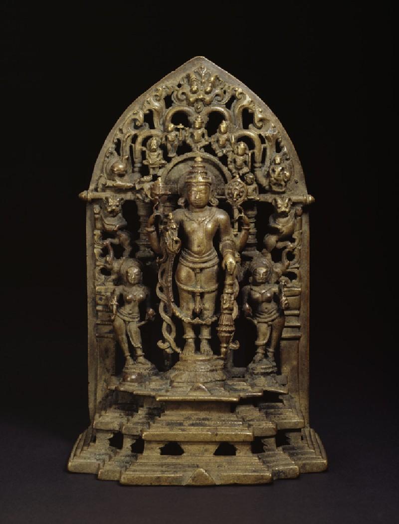 Shrine with figure of Vishnu (front           )