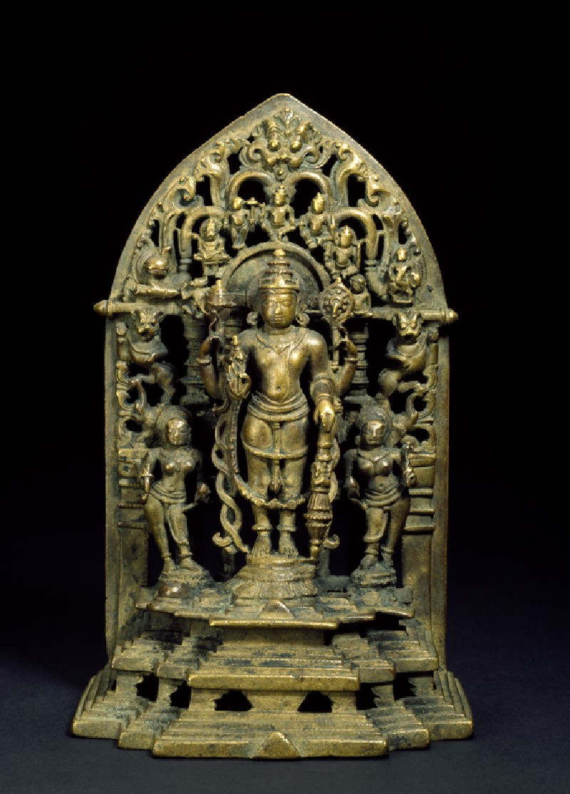 Shrine with figure of Vishnu (EA2005.12, front           )