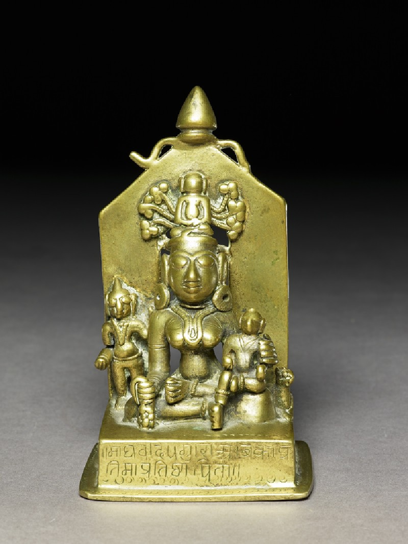The goddess Ambika (front           )