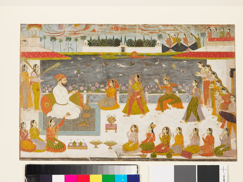 Nawab and ladies watching a nautch (EA2005.89, front           )
