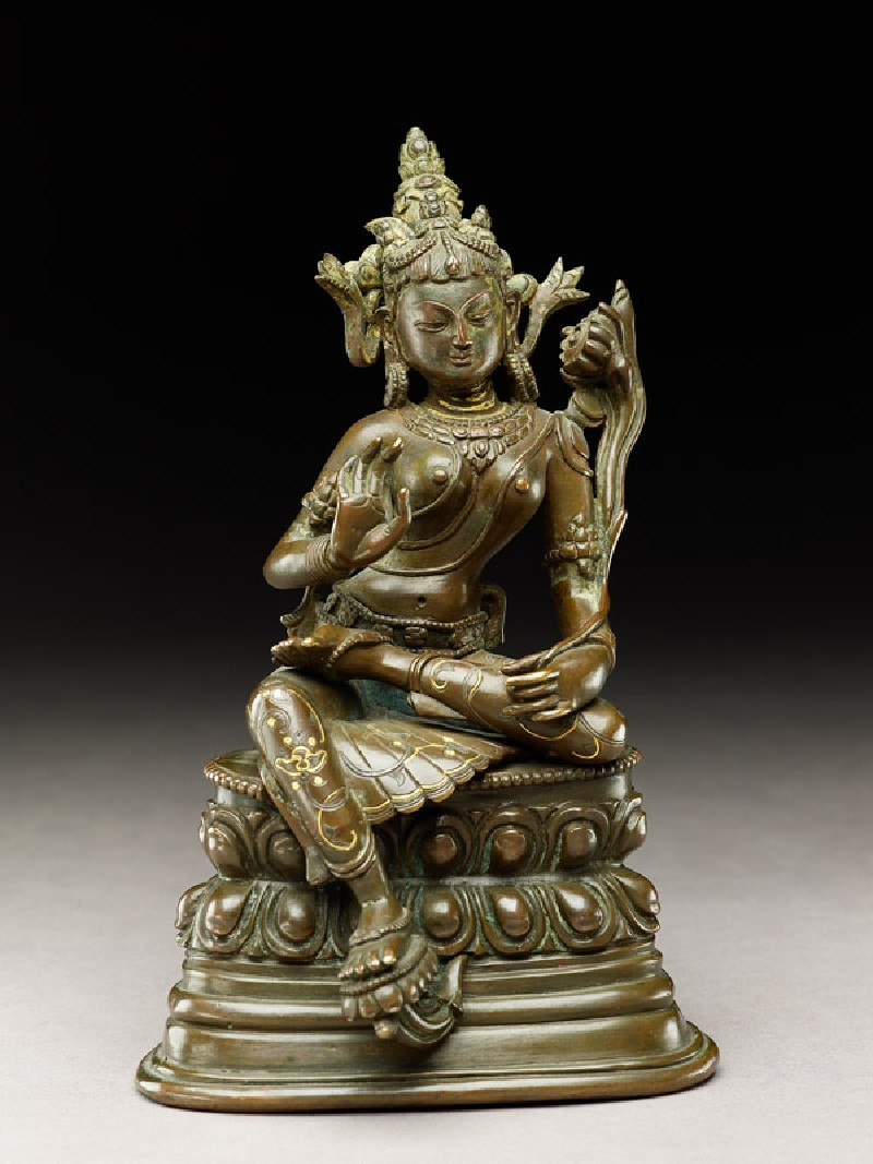 Seated figure of a female deity, probably Tara