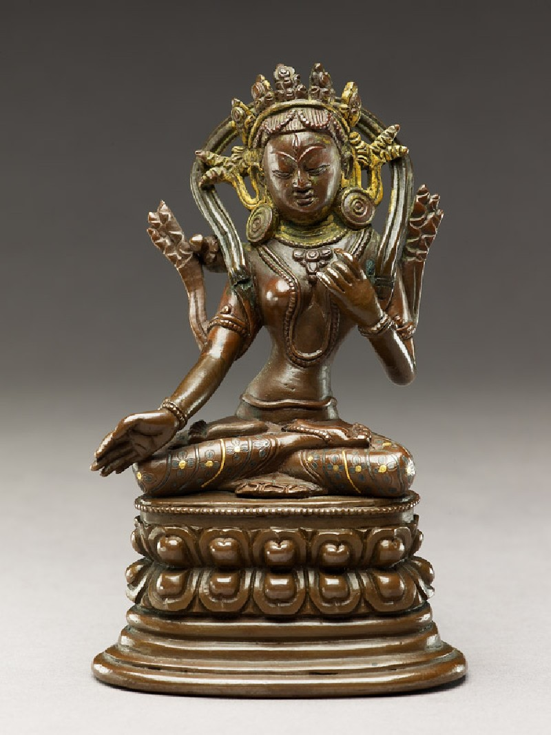Seated figure of a female deity (EA2006.66.a, front             )