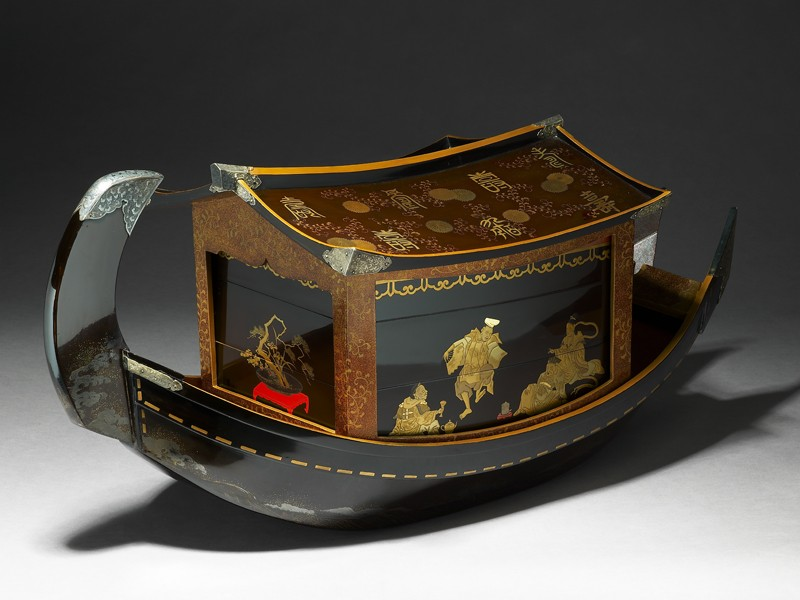 Picnic set in the form of a river boat (EA2007.106, oblique            )