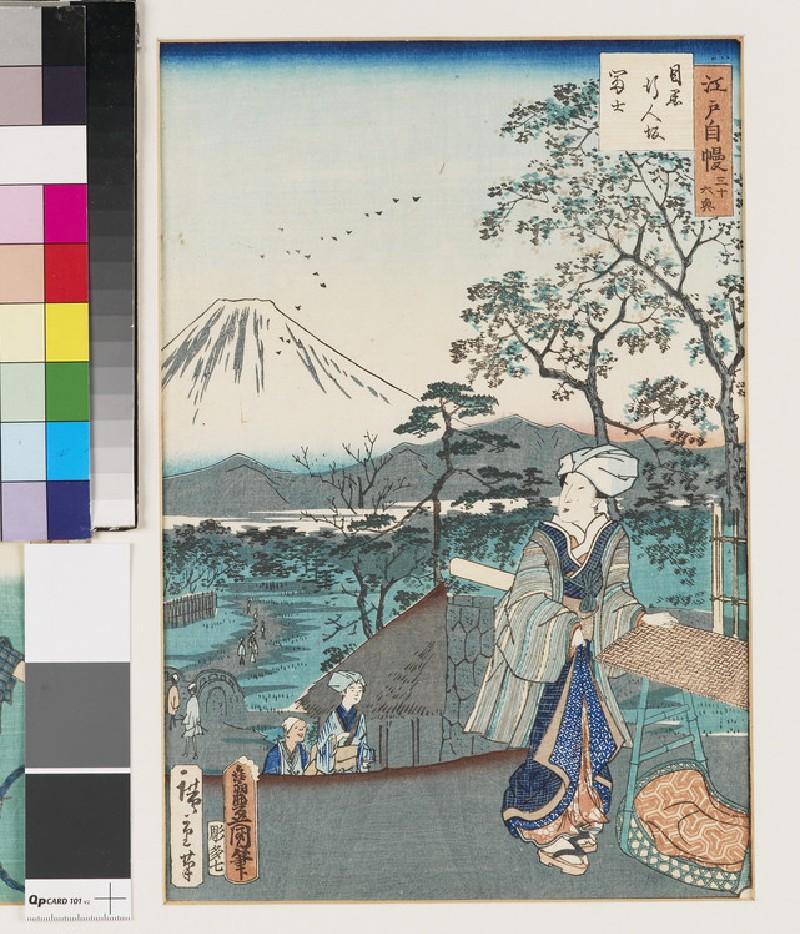 Gyōnin-zaka inn Meguro and Mt. Fuji (front            )