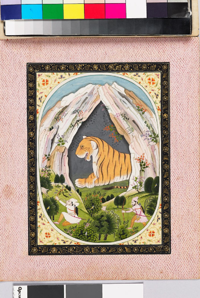 Leo, or Sinha, the zodiac sign, shown as a tiger in a cave (EA2007.255, front            )