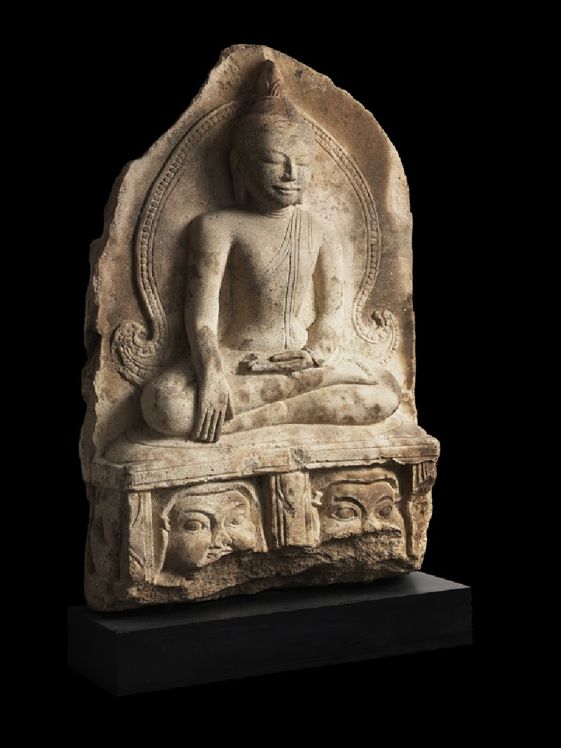 Seated figure of the Buddha (EA2008.70, oblique           )