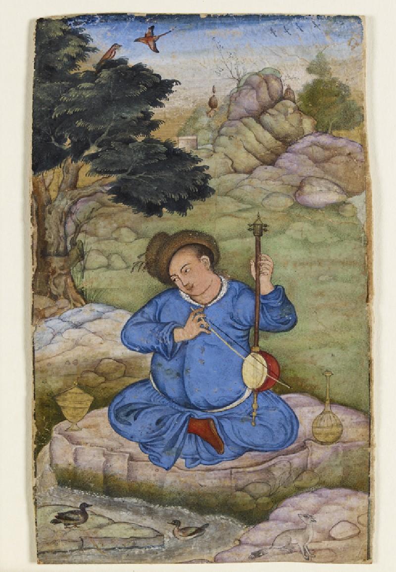 Musician in a landscape