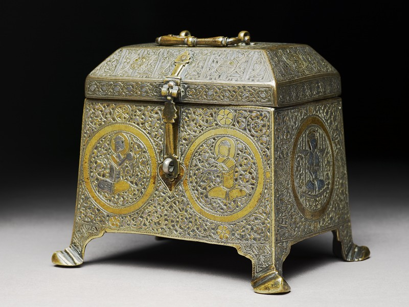Casket with figural decoration (EA2009.23, side           )