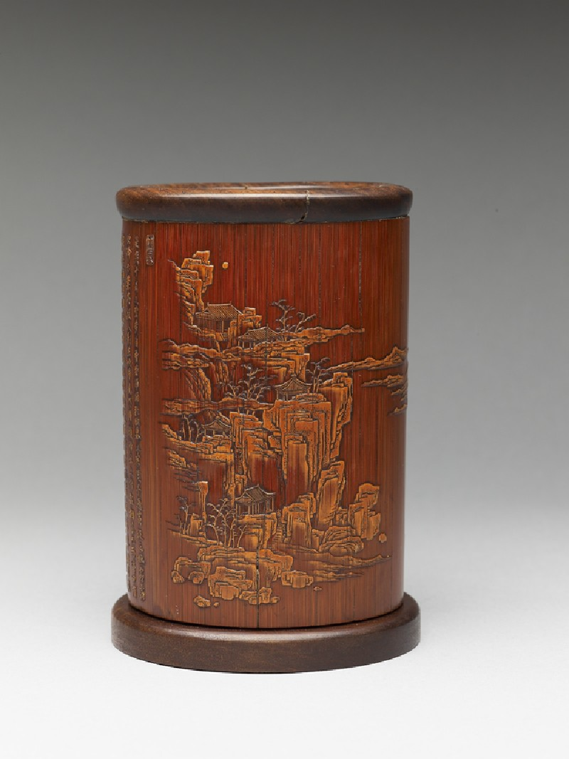 Brush pot with Su Shi's Latter Ode on the Red Cliff (EA2009.38, side           )
