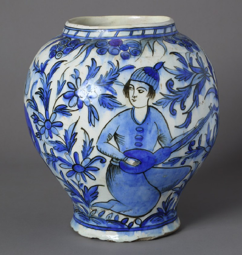 Jar with two youths in a landscape (EA2012.101, front            )