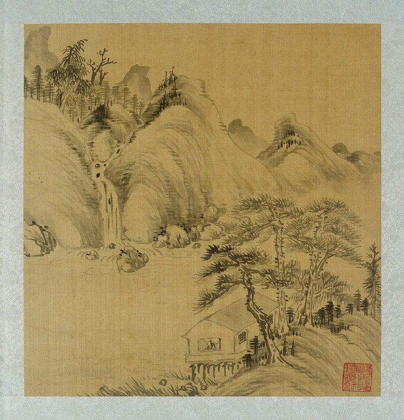 Album of landscapes by Qian Gu (EA2012.185, a, front            )