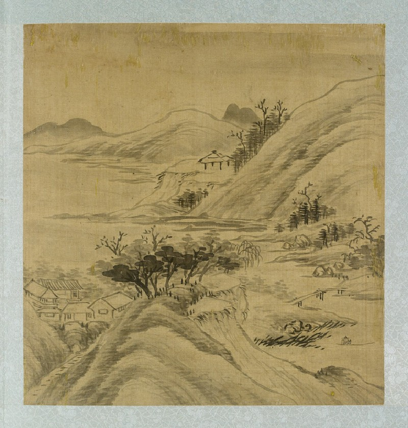 Landscape with houses among the mountains (EA2012.185.c, front              )