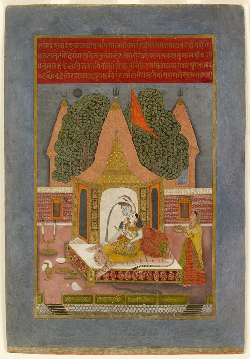Shiva and Parvati at night