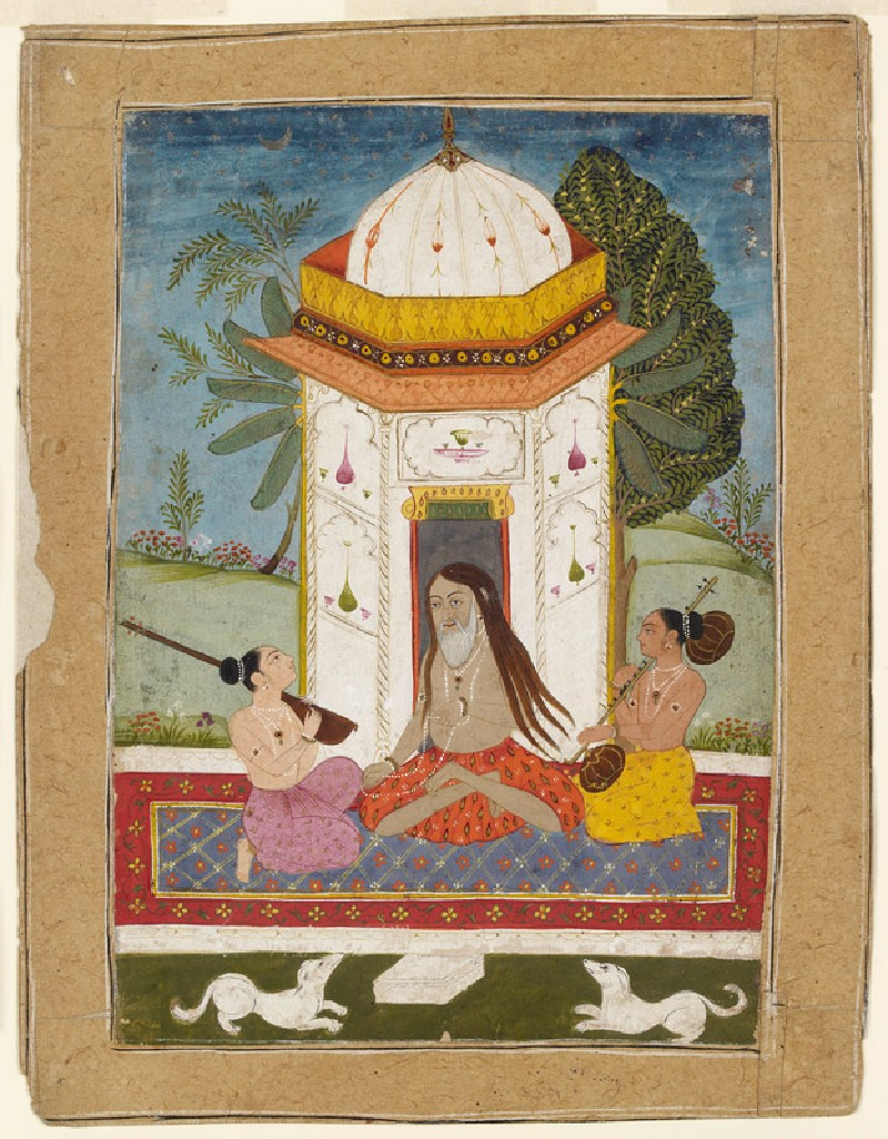 Yogi listening to music, illustrating the musical mode Kedara Ragini