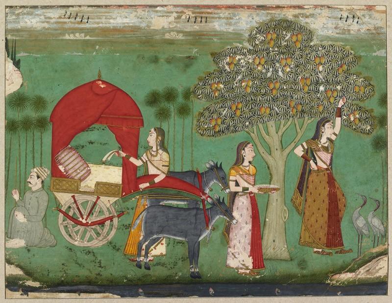 A lady by a mango tree (EA2012.232, front            )