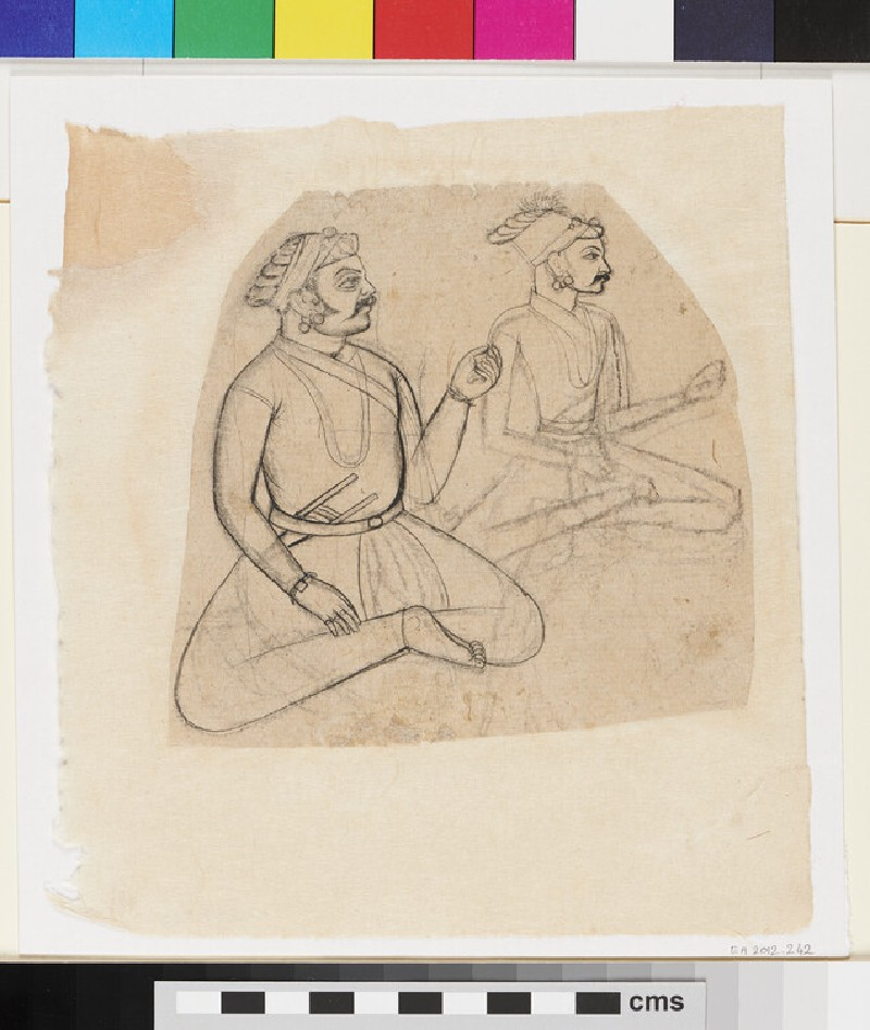 Two seated noblemen (EA2012.242, recto)