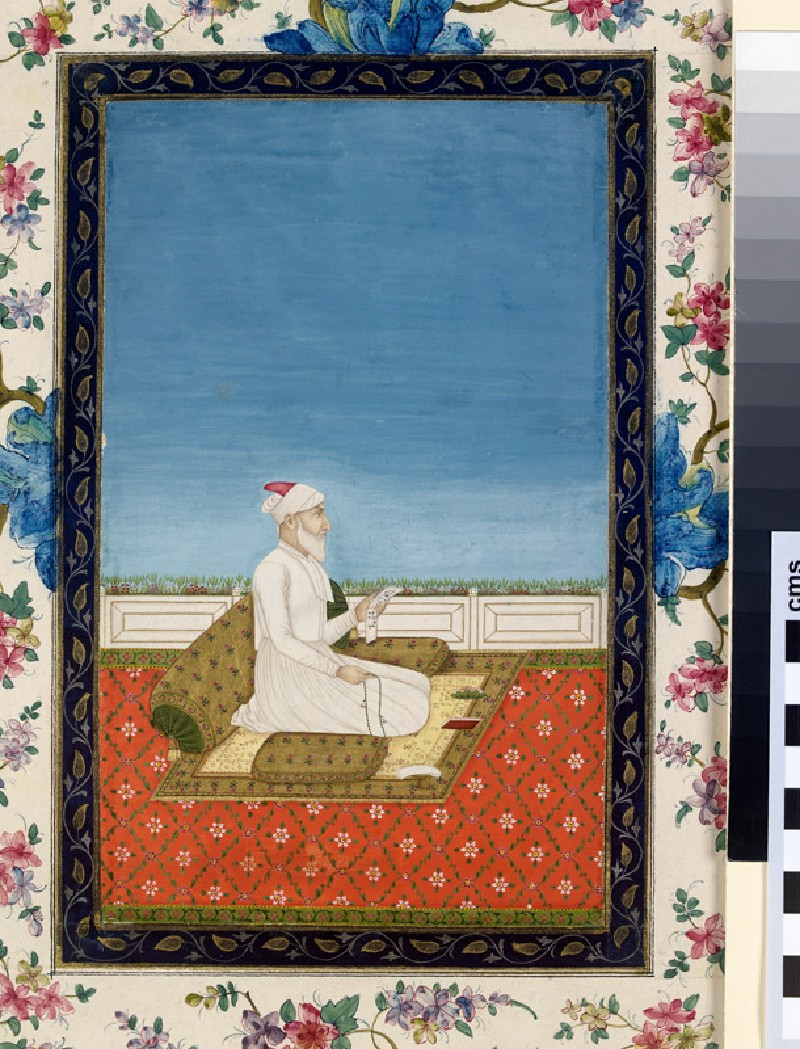 Nobleman on a terrace (front, painting only           )