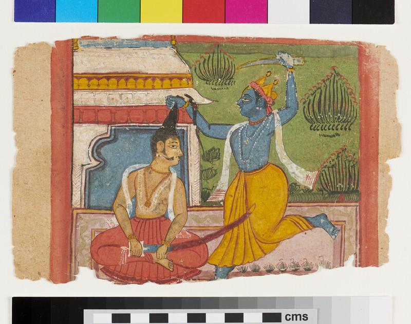 Krishna possibly slaying King Kansa