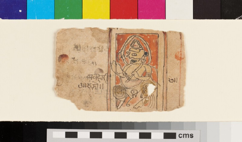 Drawing of a possibly Jain deity (EA2012.341.b, recto)