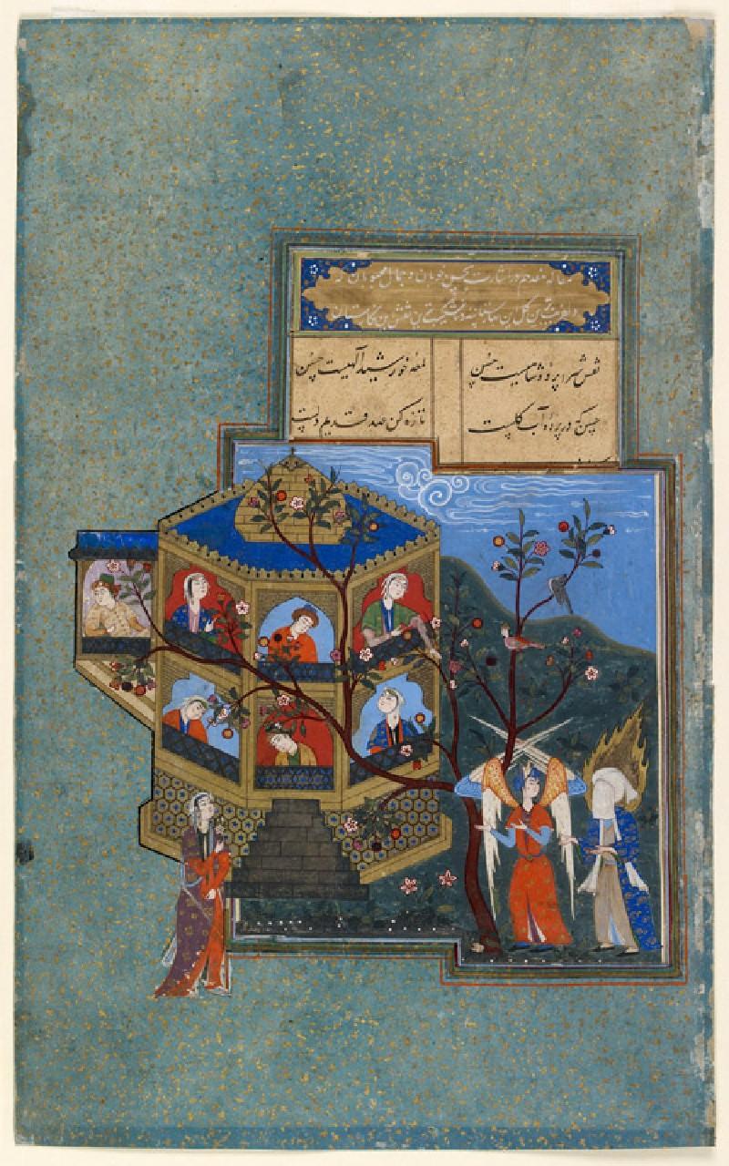 Muhammad and Jibril visiting paradise (front           )