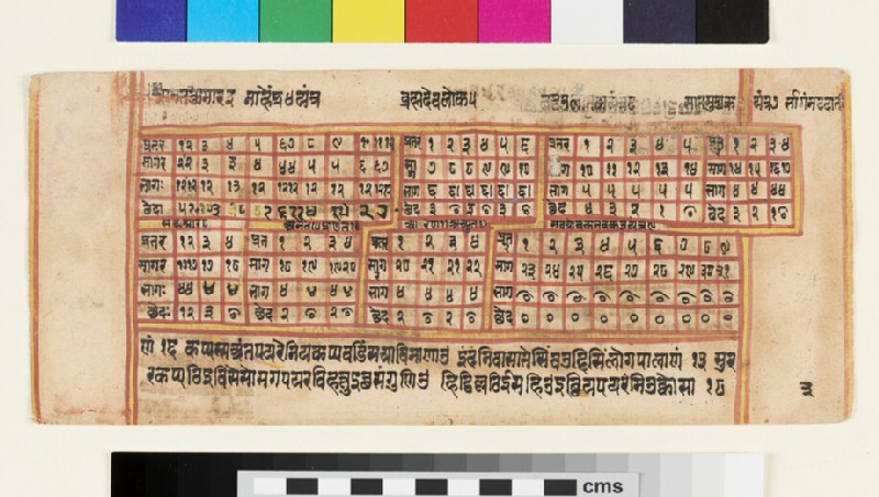Unillustrated page from a Sangrahani Sutra manuscript (EA2012.395.c, recto)