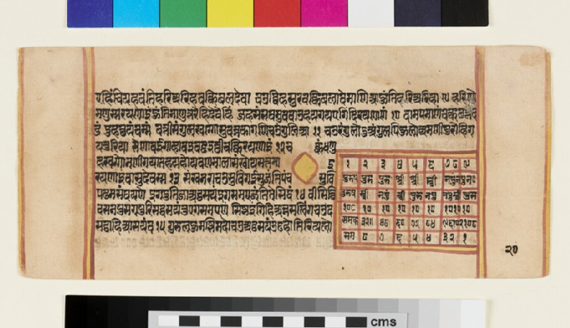 Unillustrated page from a Sangrahani Sutra manuscript (EA2012.395.t, recto)