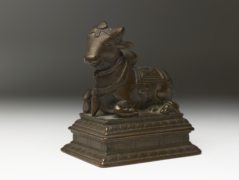Figure of Nandi, the bull of Shiva (EA2013.100, oblique            )