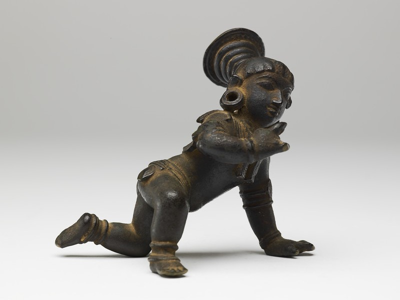 Figure of Krishna, the Butter Thief (EA2013.101, side            )