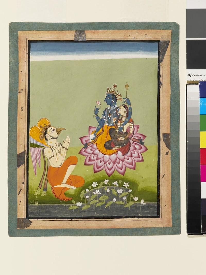 Vishnu and Lakshmi, attended by Garuda