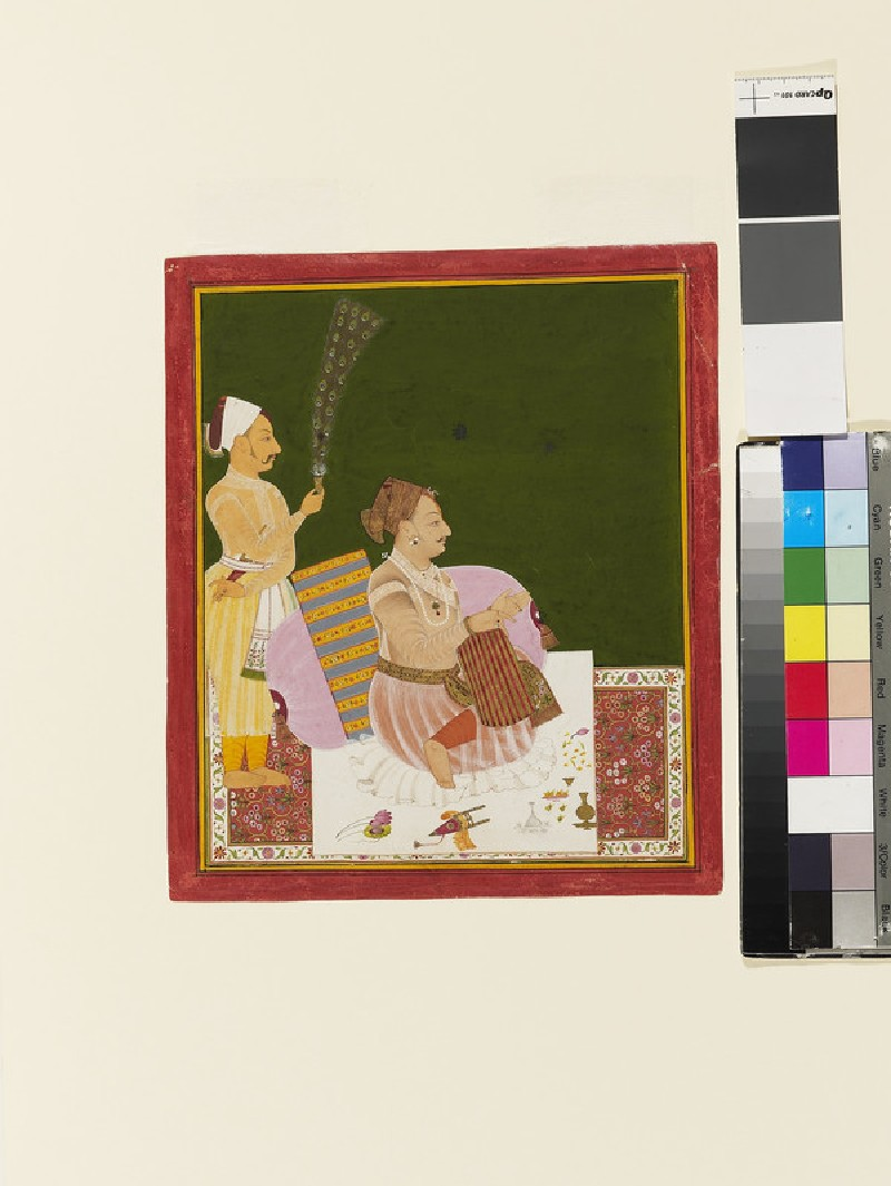 Portrait of a seated Raja, probably Maharaja Ajit Singh of Jodhpur (EA2013.107, front            )