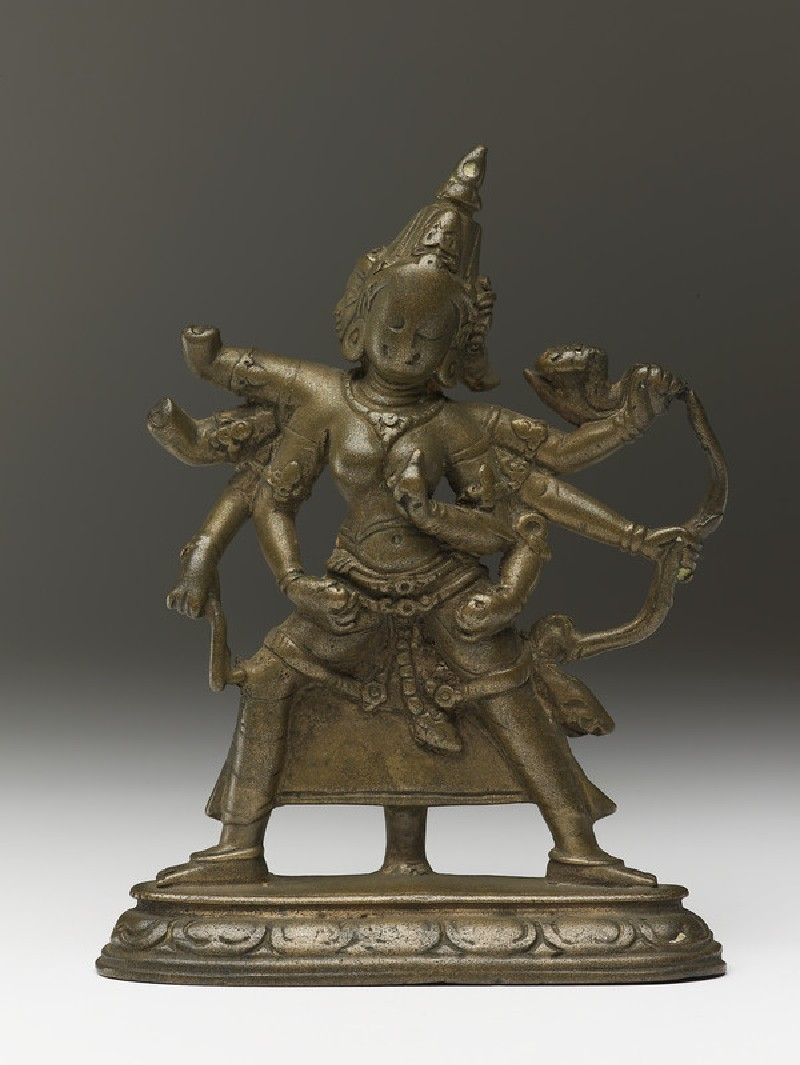 Figure of eight-armed and three-faced goddess Marichi