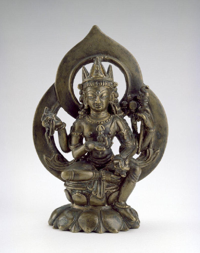 Seated figure of Avalokitesvara (front           )