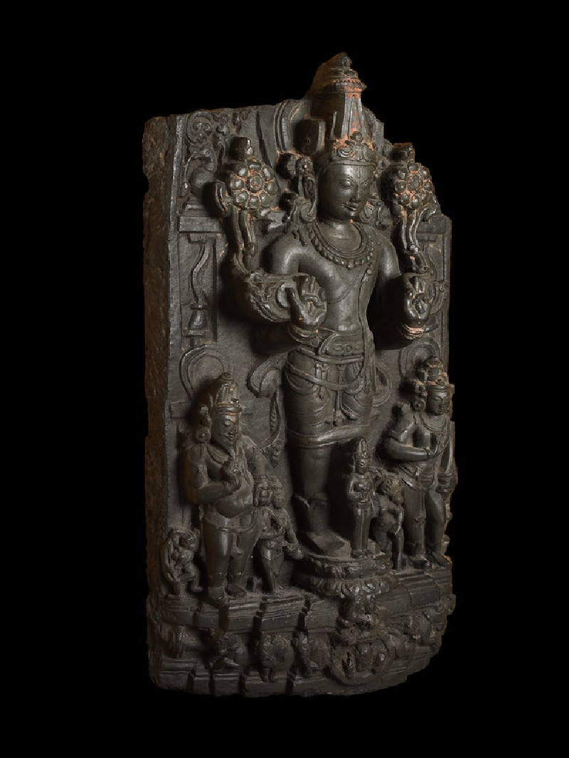 Stele with Surya, the Sun god, and attendants (EA2013.43, side           )