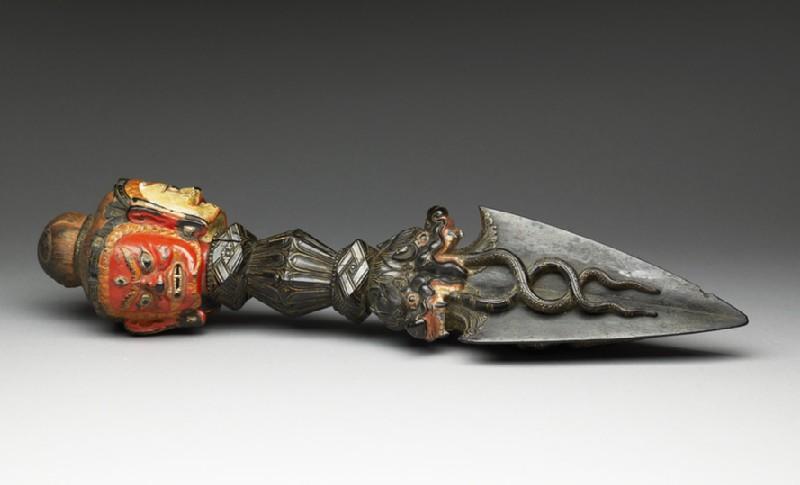 Phurbu, or ritual dagger (EA2013.44, oblique           )