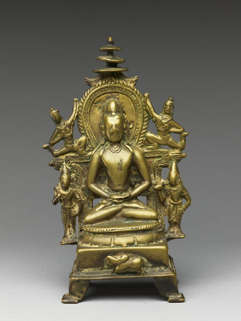Figure of Rishabhanatha with attendants (EA2013.50, front           )