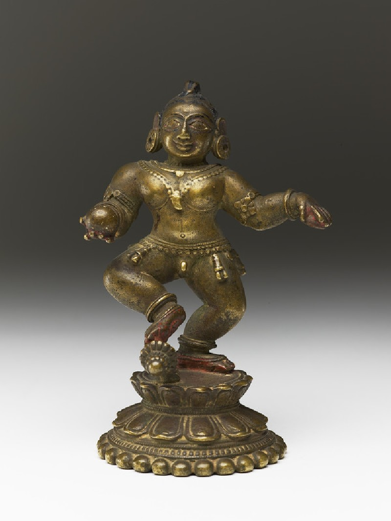 Dancing figure of Balakrishna (front           )
