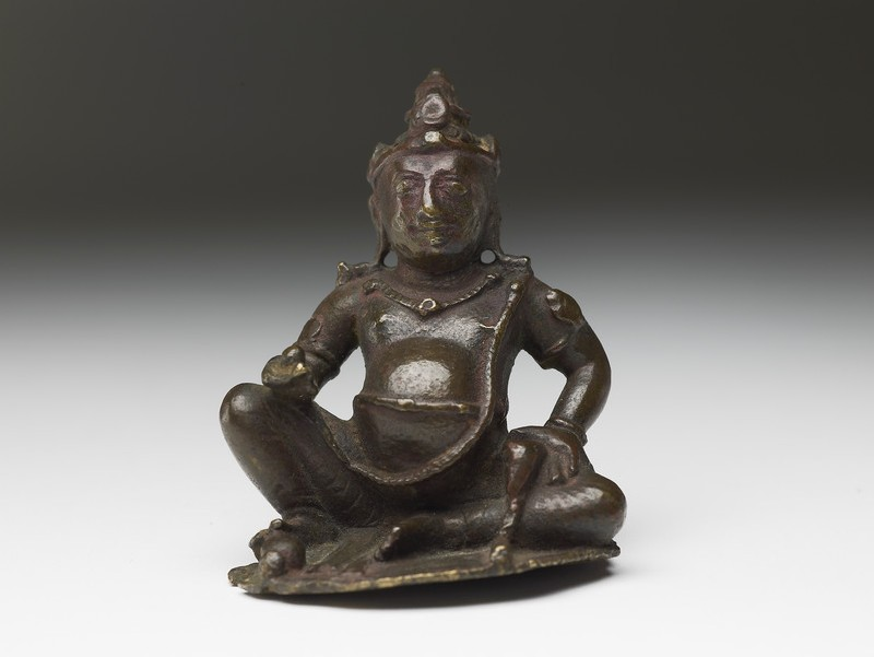 Figure of Kubera, god of wealth (front           )