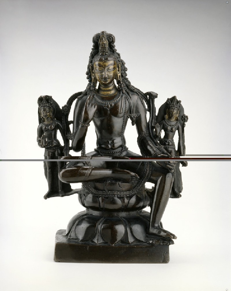 Figure of Padmapani with attendants (EA2013.63, front           )