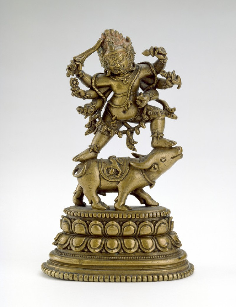 Figure of Yamantaka dancing on a buffalo (front           )