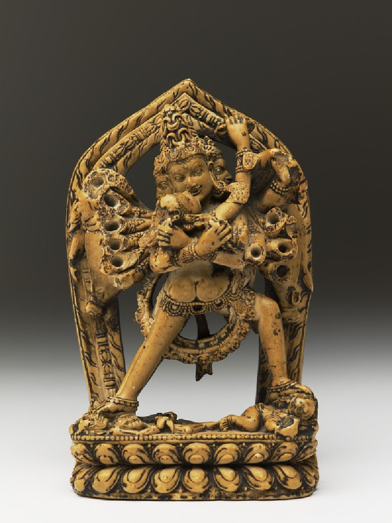 Figure of Samvara and Vajravarahi