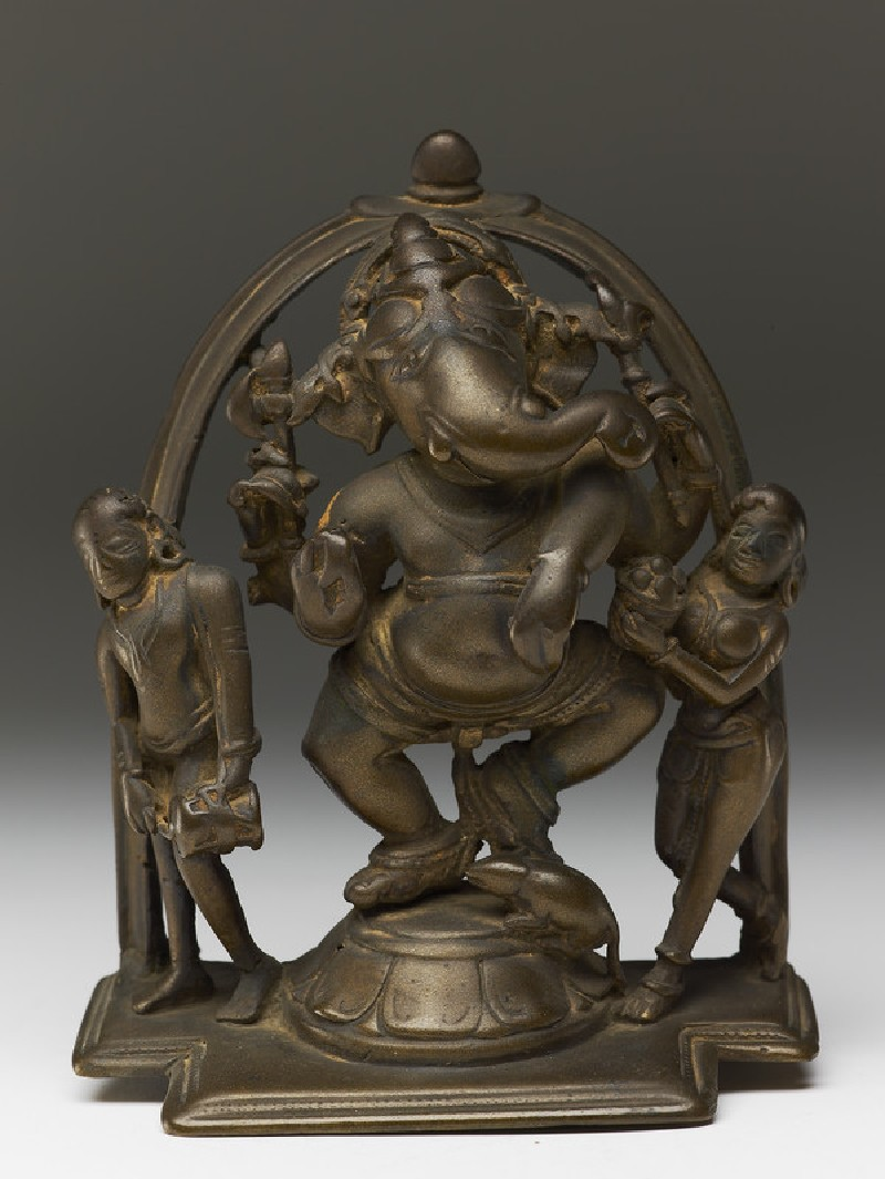 Dancing figure of Ganesha with attendants (EA2013.82, front           )