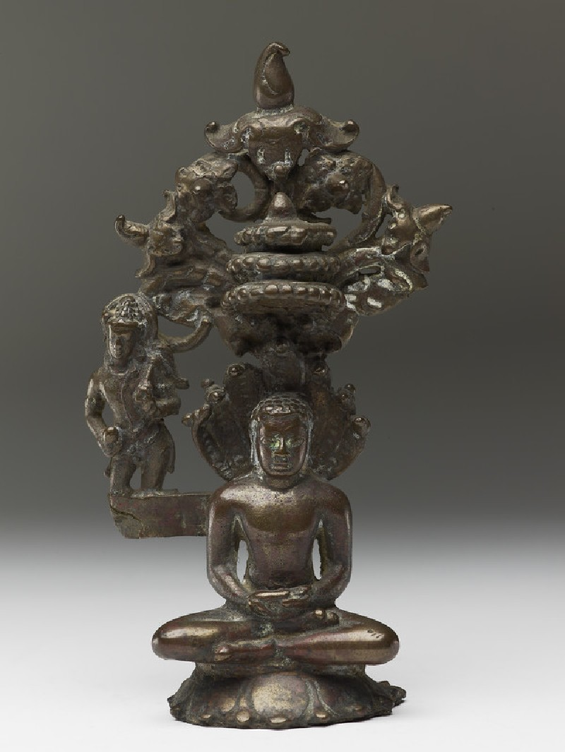Figure of the Tirthankara Parshvanatha (front           )