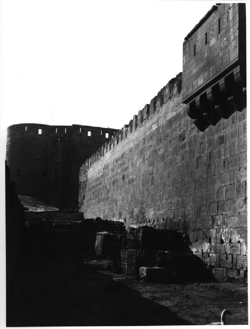 City Walls: North Wall, round-fronted tower