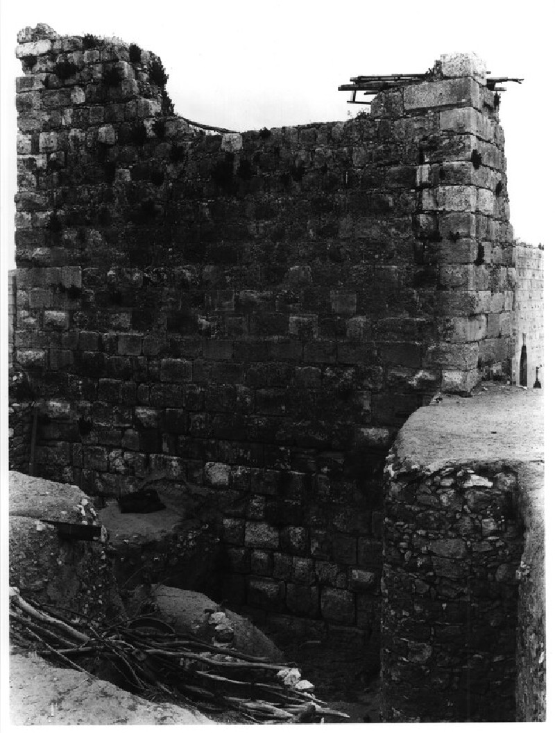 Crusader Tower standing west of the hall